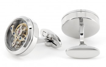 Tourbillon watch movement cufflinks - Genève