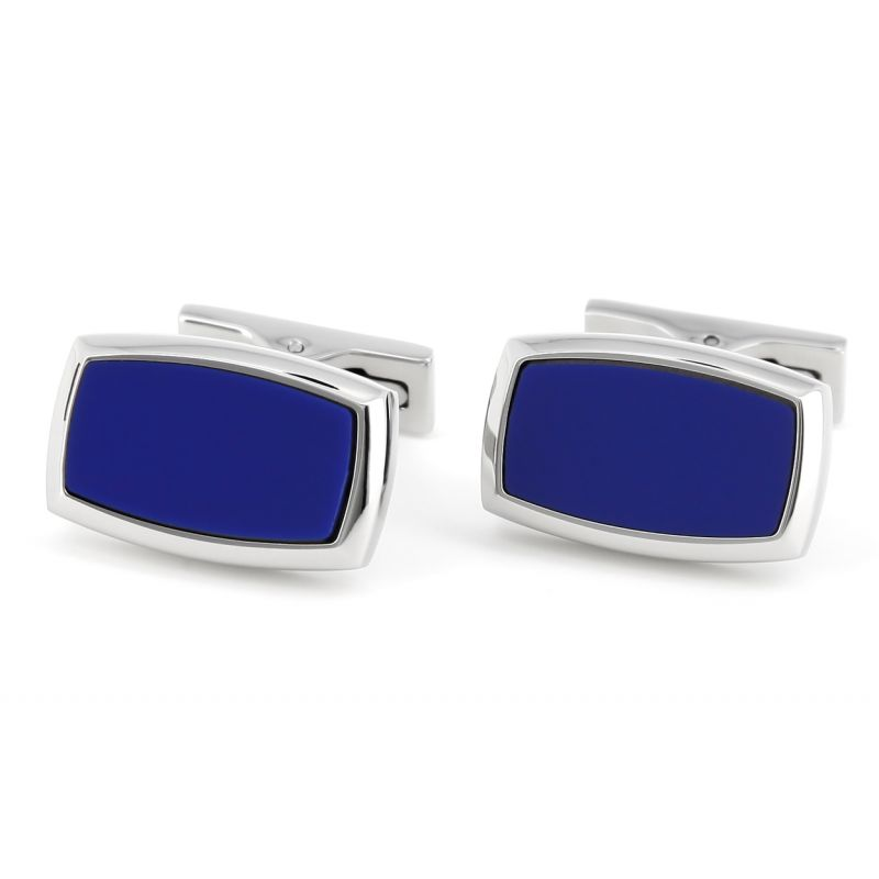 S.T Dupont - Inital D Rectangle black laquer cufflinks