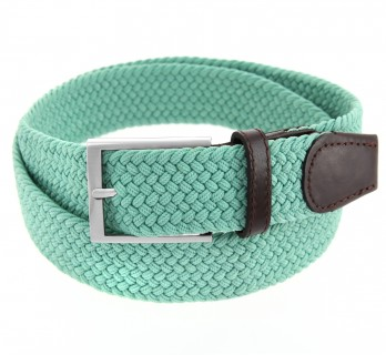 Elastic braided belt in almond green - Rob II