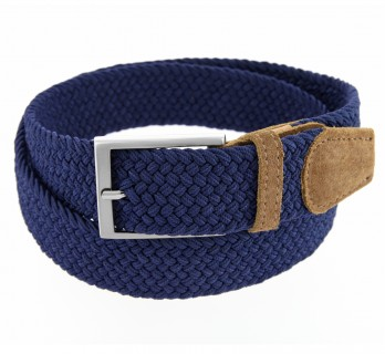 NAVY BLUE ELASTIC BRAIDED II BELT