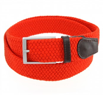Elastic braided belt in red - Rob II