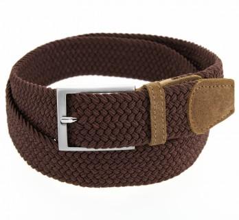 Elastic braided belt in brown - Rob