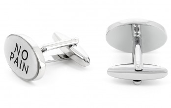 Fitness cufflinks - No Pain/No Gain