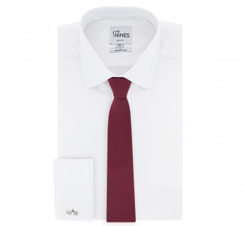 Red Tie with Small Squares - Osaka