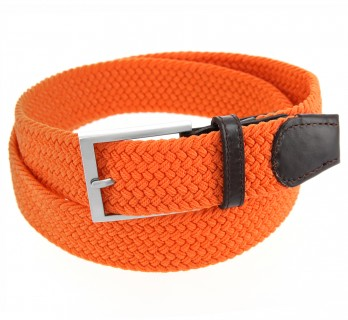 Elastic braided belt in orange - Rob II