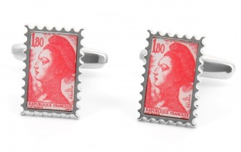 Stamp cufflinks - Marianne