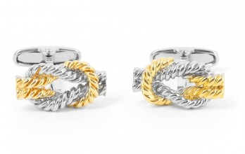 Gold sailing knot cufflinks - Belem