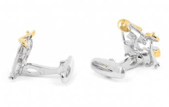 Music cufflinks - Drums