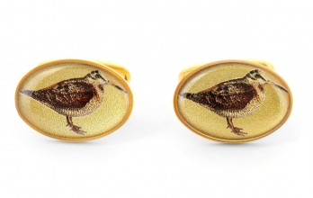 Gold woodcock cufflinks - Woodcock