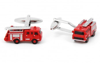 Red firefighter cufflinks - Fire Department