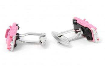 Pink car cufflinks - Cadillac
