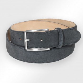 Men's belt in dark grey suede - Tom