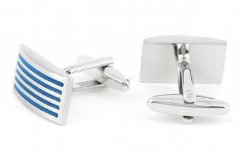 Turquoise rectangular cufflinks - Manhattan