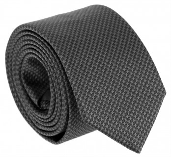 Grey The Nines Tie with Houndstooth Pattern