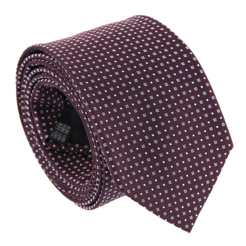 Black The Nines Tie with square pattern