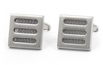 Brushed silver cufflinks - Calandre