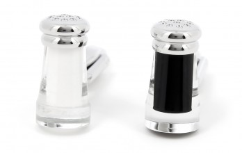 Salt and pepper cufflinks - Guérande II