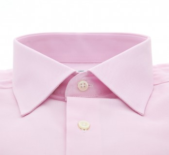 Pink Poplin Classic Collar Double Cuff Shirt Slim Fit