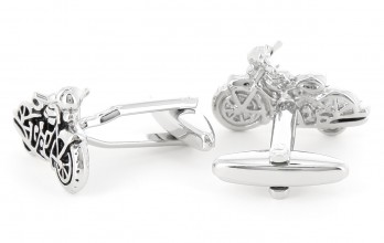 Motorbike cufflinks - Highway 61