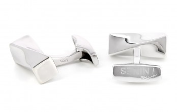 Rectangular sterling silver cufflinks - Cayan