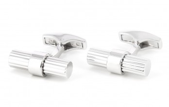 Sterling silver cylindrical cufflinks - Corinthe III