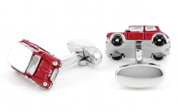 "Car cufflinks - Red Mini Cooper ""Made in England"" Limited Edition"