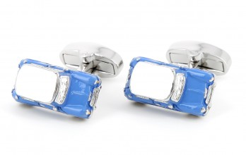 "Car cufflinks - Blue Mini Cooper ""Made in England"" Limited Edition"