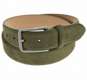 Men's belt in khaki suede - Tom