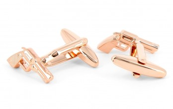 Rose Gold cufflinks - Vauxhall Cross