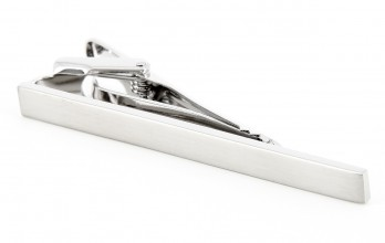 Tie Clip - Phoenix Brushed silver