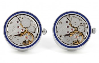 Schaffhausen Blue - Watch Movement Cufflinks