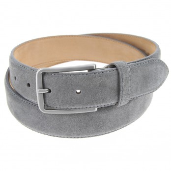 Men's belt in grey suede - Tom
