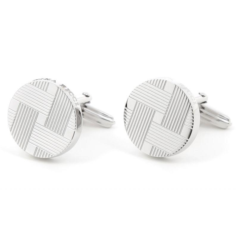 Nina Ricci - Silver round cufflinks