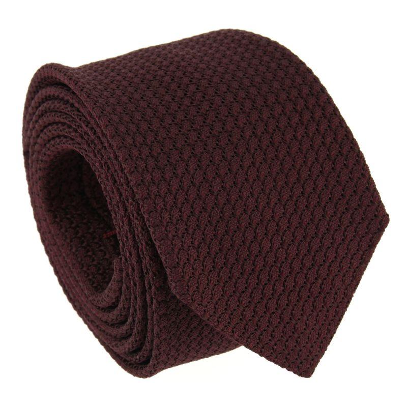 Garnet Red Grenadine Silk The Nines Tie - Grenadines III