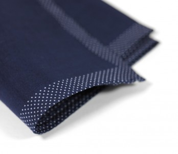 Navy Blue Pocket Square - Sainte-Maxime