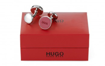 Hugo Boss Cufflinks - E-Color raspberry