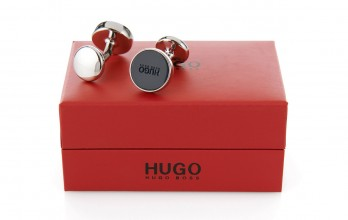 Hugo Boss Cufflinks - E-Color navy blue