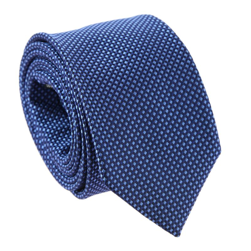 Navy Blue and blue Basket Weave Silk The Nines