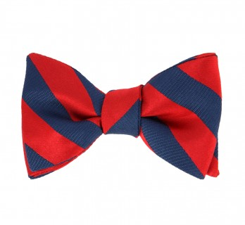 Navyblue and Red The Nines Bow Tie