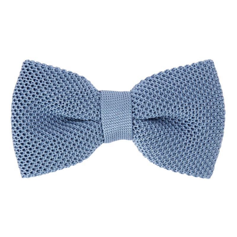 Knit Light Blue Bow Tie - Monza