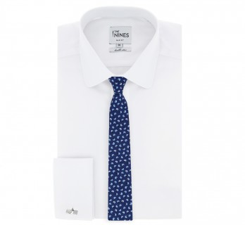 Navy Blue tie with skyblue helmets The Nines