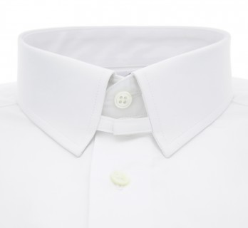 Tailored fit white tab collar shirt