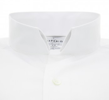 Tailored fit white reverse collar French Cuff shirt