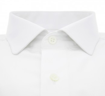 Slim fit white classic rounded collar shirt