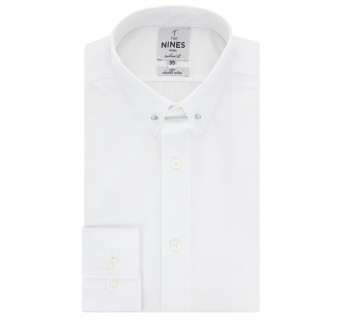 White pin collar shirt Slim fit