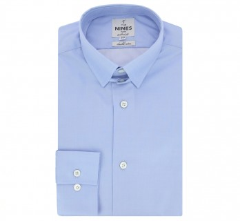 Blue tab collar shirt tailored fit