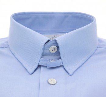 Blue tab collar French cuff shirt slim fit