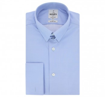 Blue tab collar French cuff shirt tailored fit