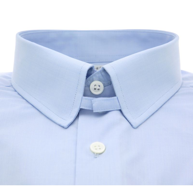 Slim Fit Skyblue Hound 39 S Tooth Tab Collar Shirt Formal