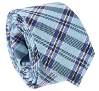 Red tie with plaid pattern The Nines